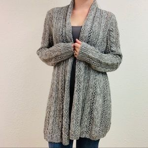NWT Maurices Light Grey Sparkly Open Cardigan L